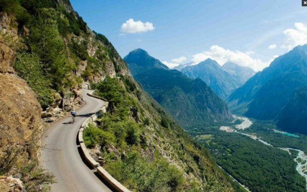 Imagine riding your bike along the scenic roads in France?