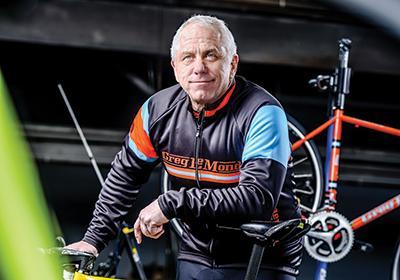 Three-time Tours de France winner Greg LeMond now designs bikes - photo Travis Anderson