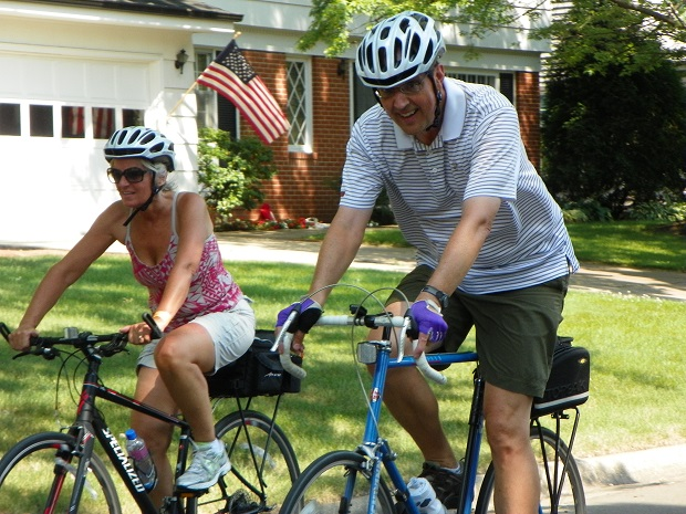 Riding through the neighborhood on the 4th of July. (2013)