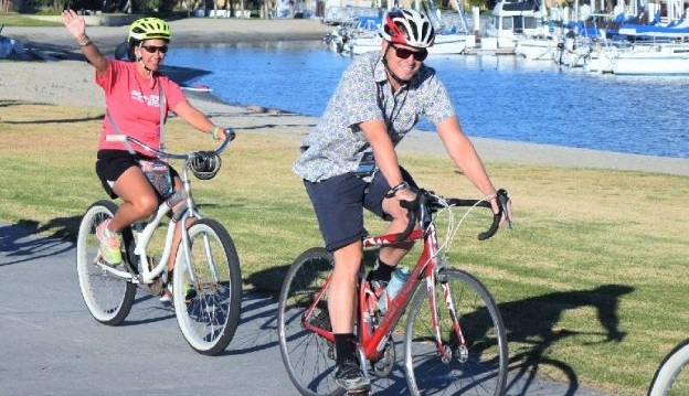 Chasing away the winter blues by visiting a warm weather bike destination.