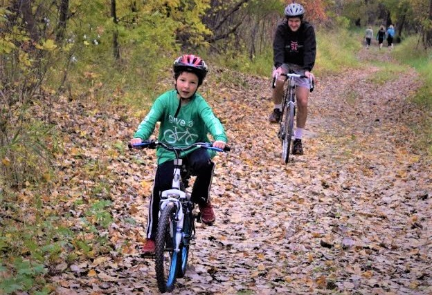 A Family fun mountain bike destination the Minnesota River Bottoms is a fun place to ride throughout the year.