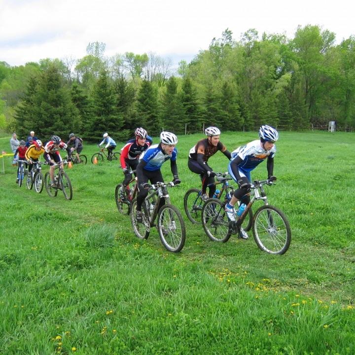 Mountain bikers having fun at Mount Kato.