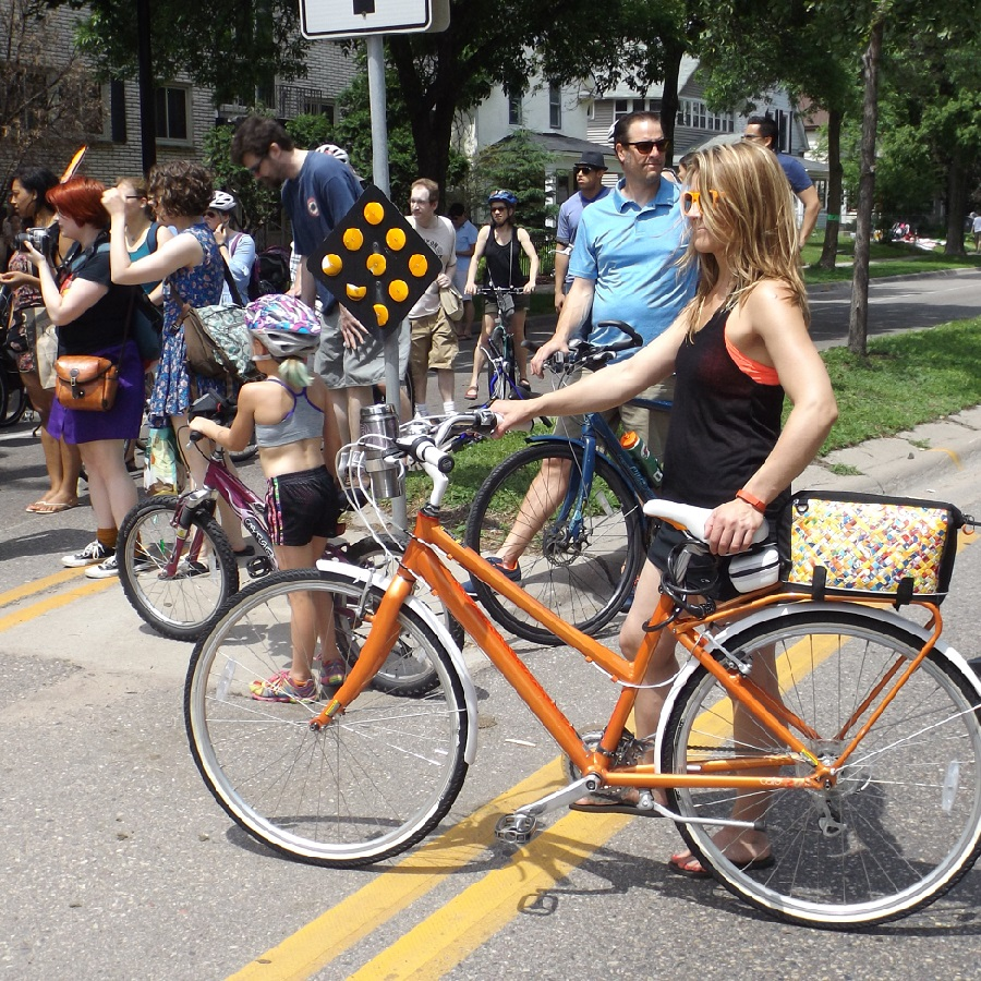 Open Streets allowed people to bike, stop and listen to music and other side show acts along the way.