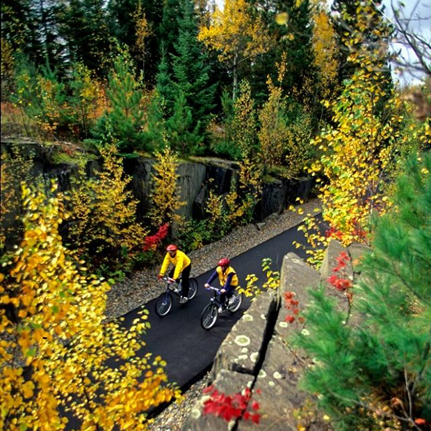 A picturesque Mesabi Trail section between Gilbert and Virginia, MN