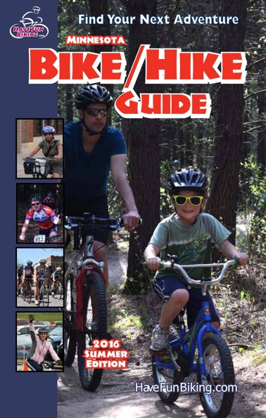 Here is a shot of the e-version of the Summer Minnesota Bike/Hike Guide, now live.