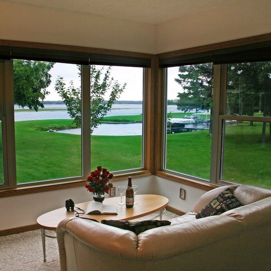 A relaxing sight from the Harbor View Suite, at Leech Lake B & B.
