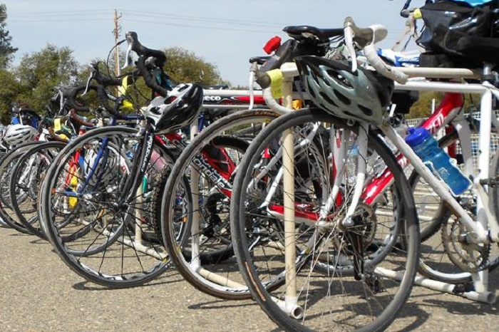 "Come by bike, the ""Slice of Shoreview"" is easy to get to and has free bike parking."