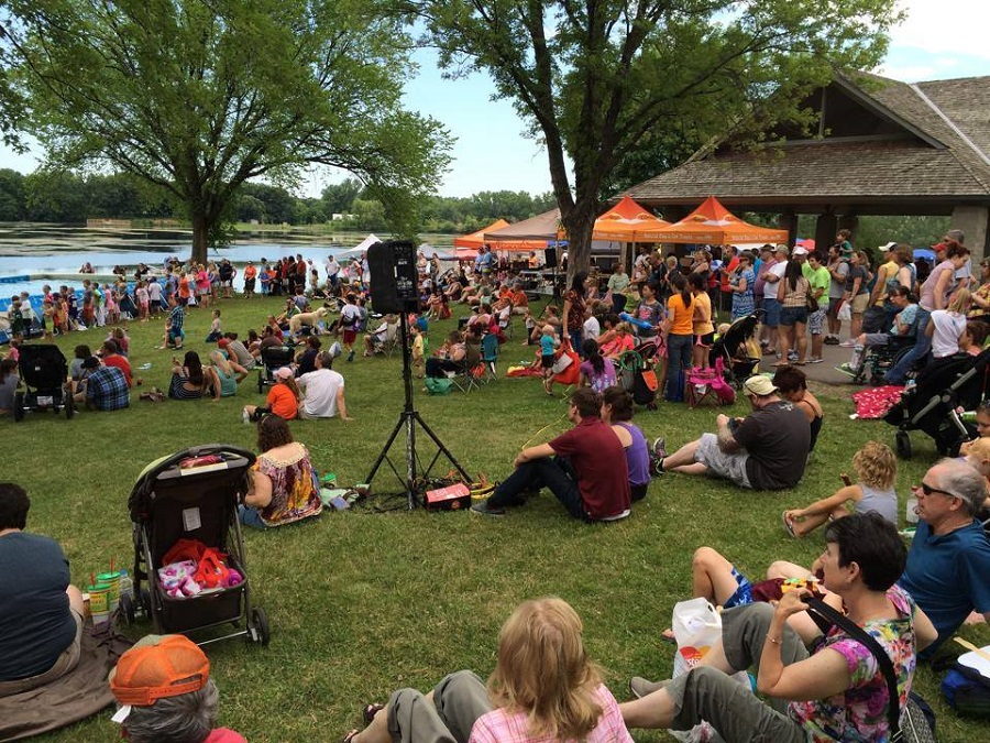 "The ""Slice of Shoreview"" is held at Island Lake County Park with music each day."