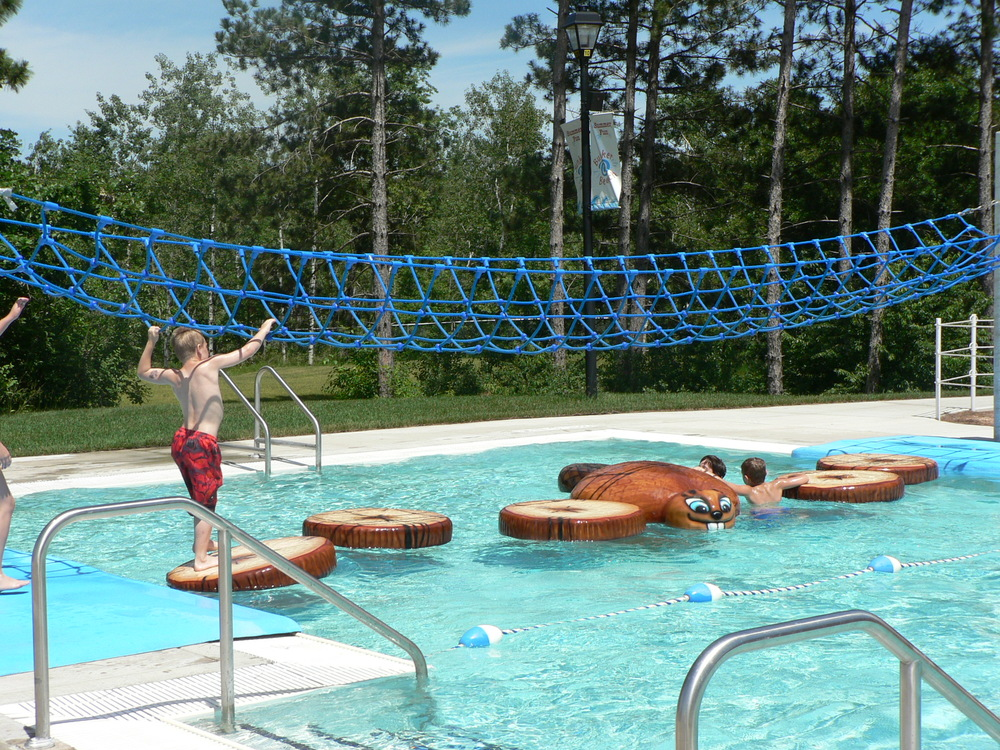 """Feeling like a cool challenge is in order, take a chance in the park walking the """"wiggly water walk"""""""