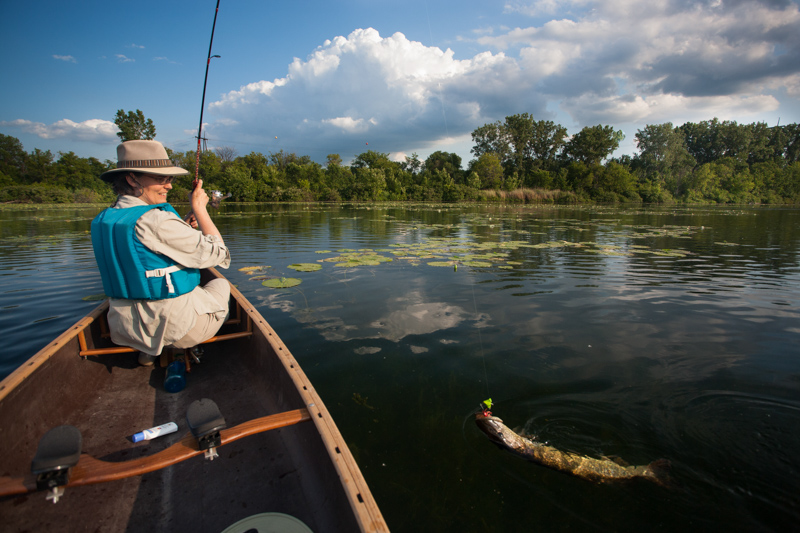 Using a canoe or kayak is another option for fishing the hot spots in the Twin Cities Gateway.