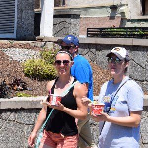 Ice cream smiles Friday in Stillwater.