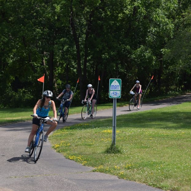 Twin Cities Gateway Train & Mississippi River Trail Tour is a chance to ride to from Anoka Co. to Big Lake then pedal back on the MRT.