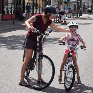 Its easy for the whole family to bike to Forever Halloween, in Anoka, MN -the Halloween Capitol of the World.