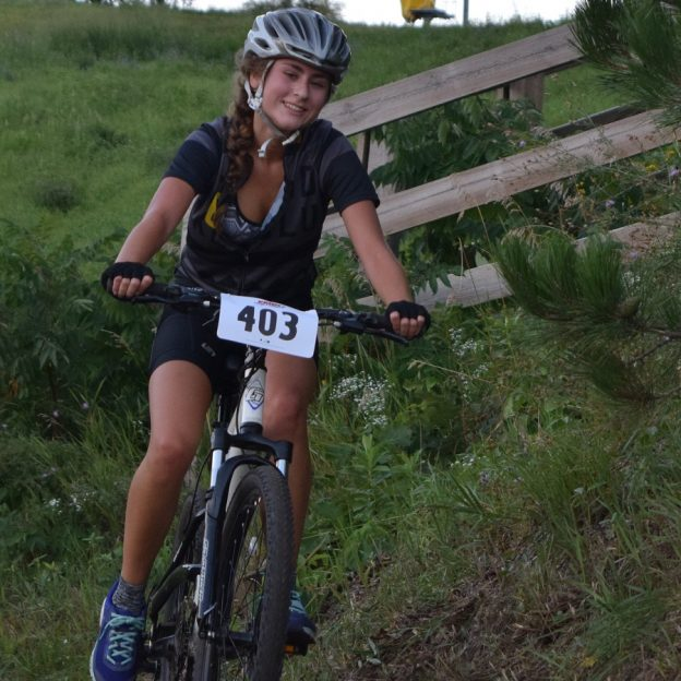 She is getting ready for Minnesota's cycle cross season with one last Thursday night mountain bike events at Buck Hill, near Lakeville, MN.