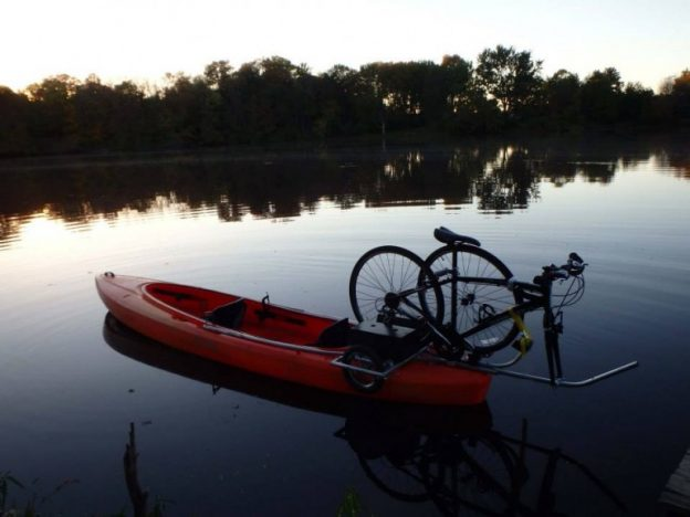 Pedal, then Paddle Gateway's Rice Creek Chain of Lakes with canoe and kayak rentals at the Wargo Nature Center.