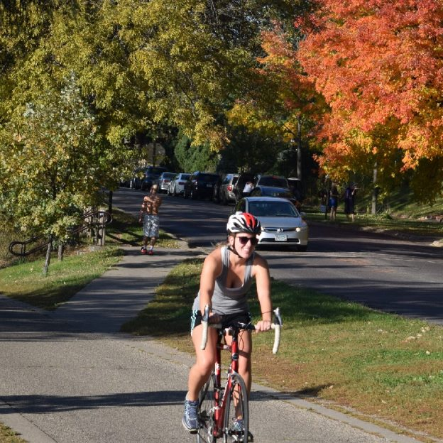 Another sunny day, with growing fall colors, to ride your bike and have fun
