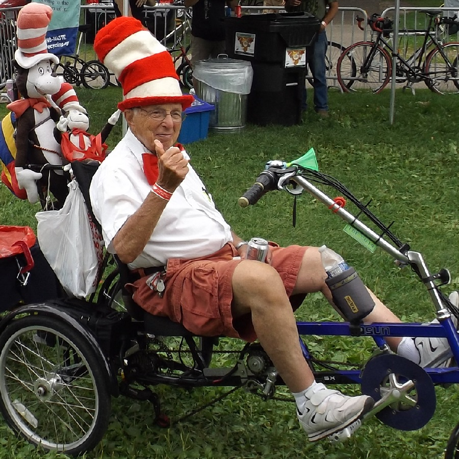 "Dr. Seuss say ""Leave the clowns to the hounds this Halloween when choosing a bike friendly costumes."""