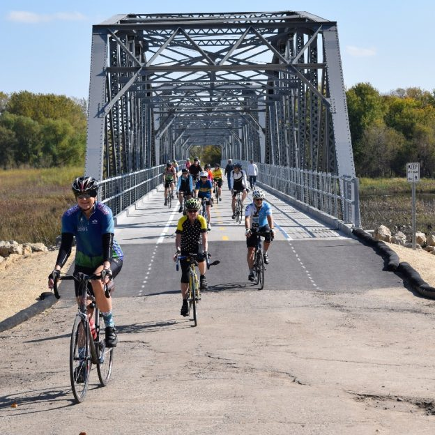 The Old Cedar Bridge bike crossing over the Minnesota River is now available for cyclists and pedestrians.