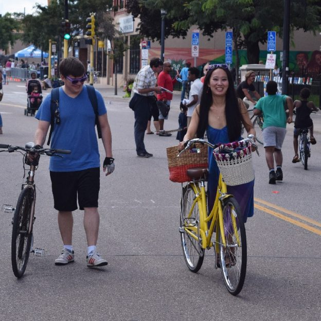 This couple found Open Streets Minneapolis fun and inviting this summer.