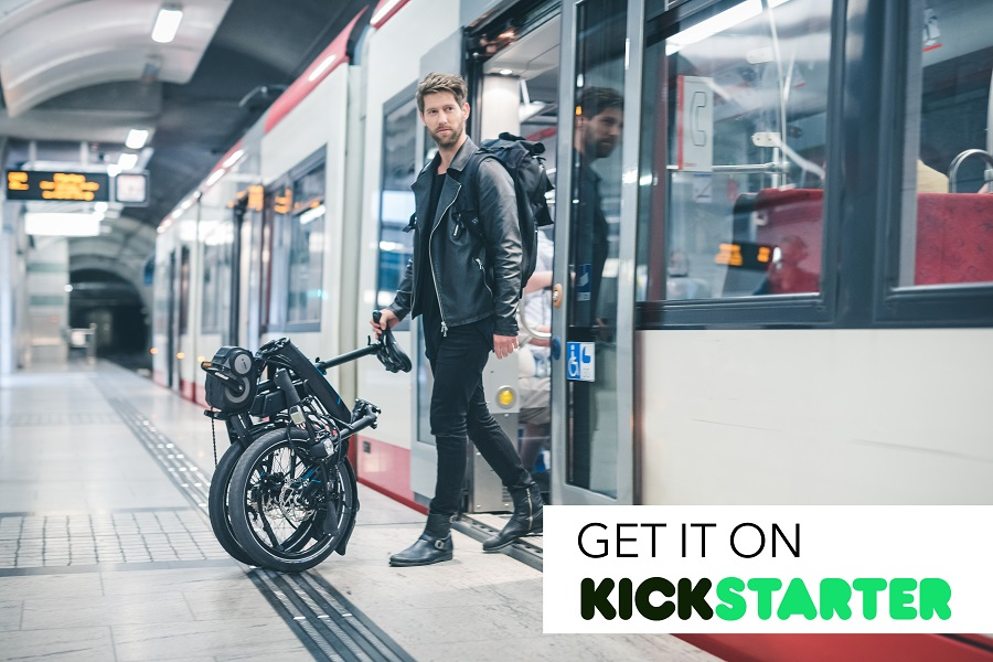 The Tern Vektron*, a folding bike on Kickstarter is great for multi modal commuting and touring.