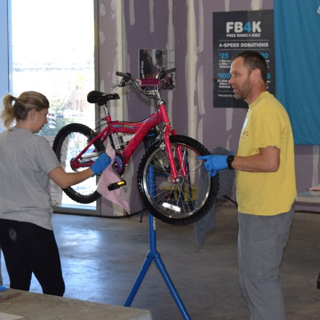 Free Bikes 4 Kidz (FB4K) is in the count down phase to their 's Bike Giveaway Weekend, but they still need your help to clean and wrench the remaining bicycles that were donated in October.