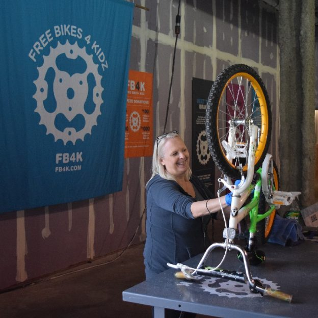 Put more smiles on children's faces by volunteering with Free Bikes 4 Kidz to clean, prep, or wrench some of the 5,000 bicycles collected this last month.