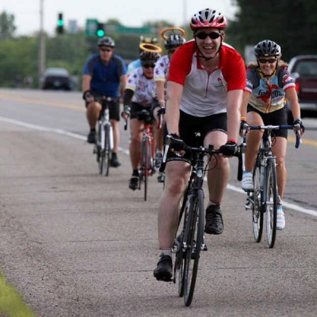 Its Motivational Monday and this lucky cyclist has the security of knowing a higher realm of safety is watching over him as he has fun riding this year's Tour de Cure - Twin Cities.