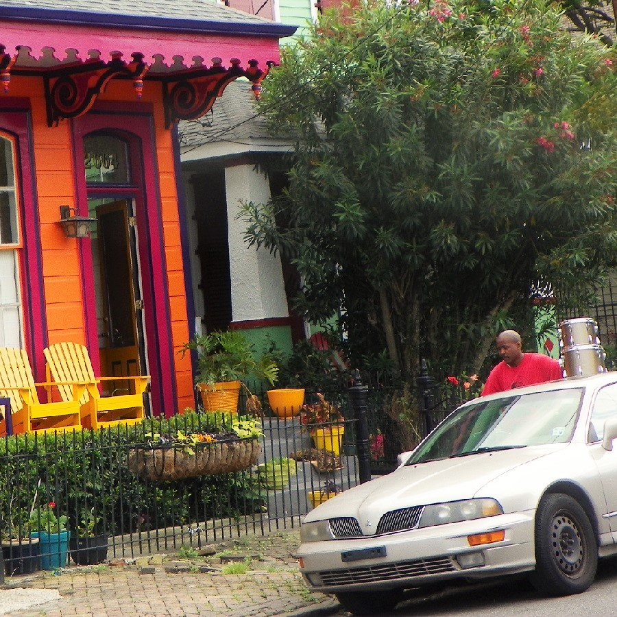 Biking near the French Quarters you will notice the colorful Creole and French influenced shotgun homes there.