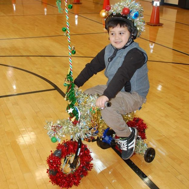 Tinsel Time Monday is finally here! The third day of winter and Christmas Eve is here. This little tyke is in the Holiday Spirit!