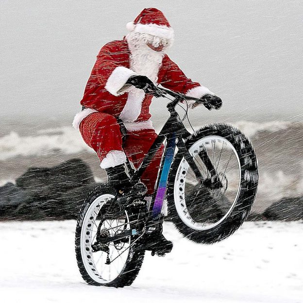 Santa has traded in his iconic sleigh for a new ride this year!