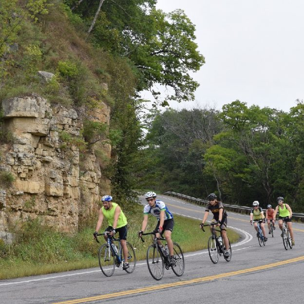 Follow the weathered ravines through the limestone bluffs.