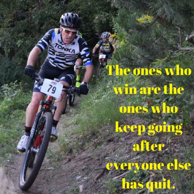 The moral to this Wisdom Wednesday is winners never quit.