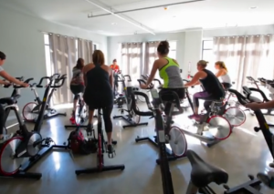 Riding your bike indoors spin class
