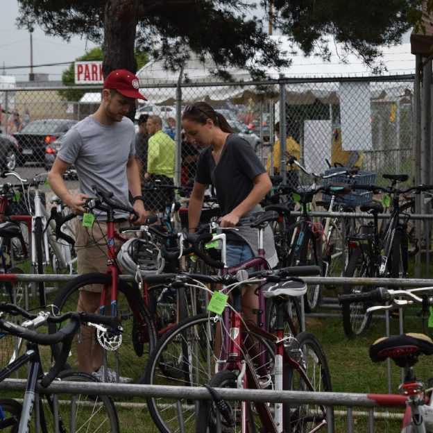Here's some information on the different kinds of locks, and other tips to ensure your bike's safety, Here a couple are locking up their bicycles to attend the Minnesota State Fair.