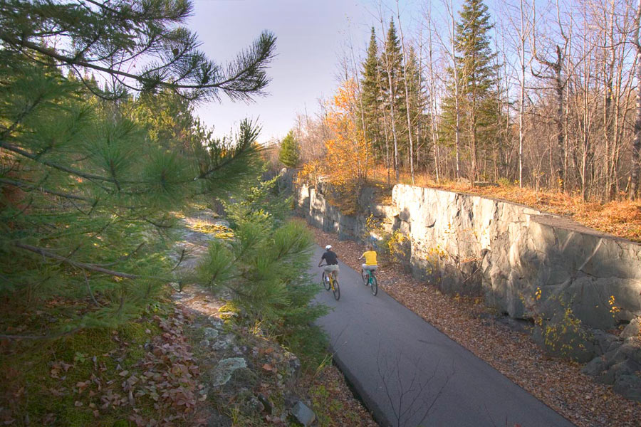 Mesabi bike trail near Virginia.
