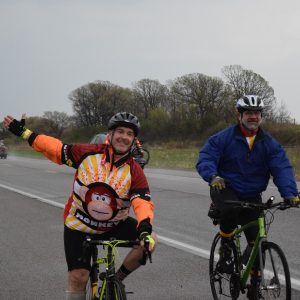 On the 27th day of 30 Days of Biking in April, with cool temps and cloudy skies, it's time for a little monkeying around before Minnesota's Ironman Sunday.