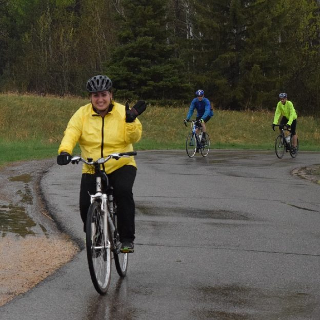 On the 25th day of 30 Days of Biking, dress accordingly as rain is in the forecast, again later today!
