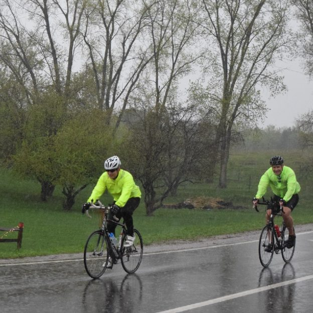 On the twelve day of 30 Days of Biking, dress accordingly as rain is in the forecast today!