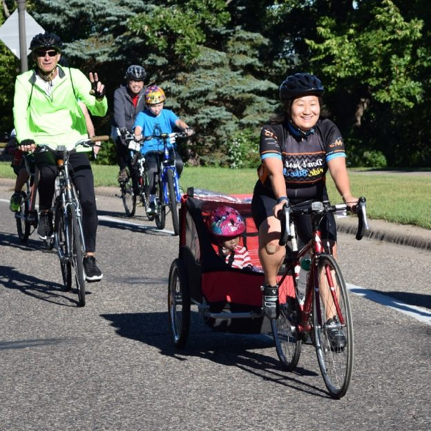 With 30 days of biking its a great day to be out bike riding with family