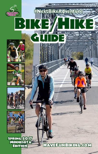 Cover of the 2017 Spring Minnesota Bike/Hike Guide.