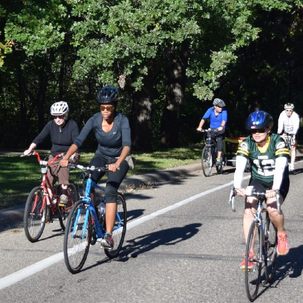 A mothers Day recap of moms on their bikes, along the Mississippi River Trail.