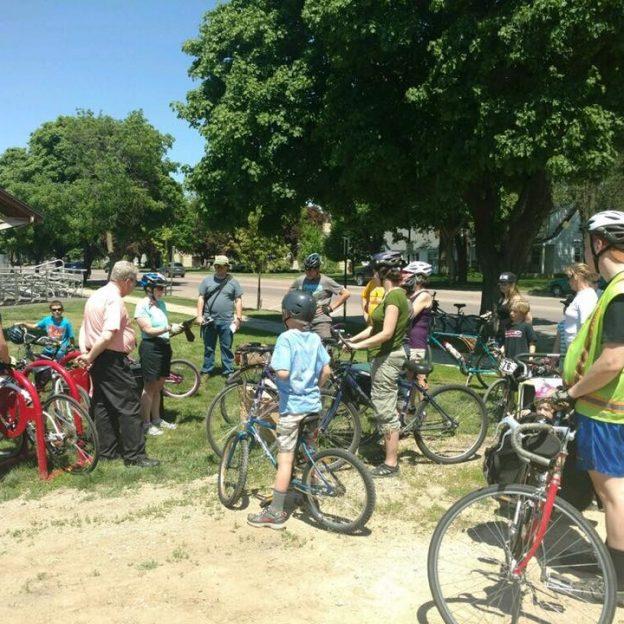 Celebrating the city's bike-friendly a ride was organized to tour New Ulm's accomplishments.