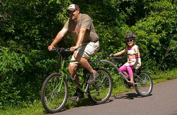 Enjoying the 13-mile paved bike traile loop around the city of New Ulm