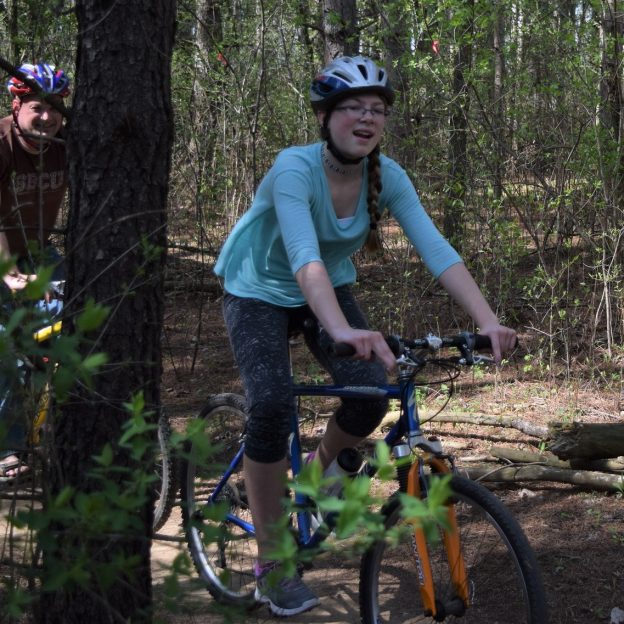 A great way to spend a Monday morning, out with dad one more time on a Minnesota mountain bike trail.
