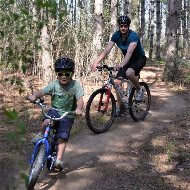 A fun day to be out with dad leading up to Father's Day tomorrow. Make it a two-day weekend affair riding some of Minnesota's mountain bike trails.