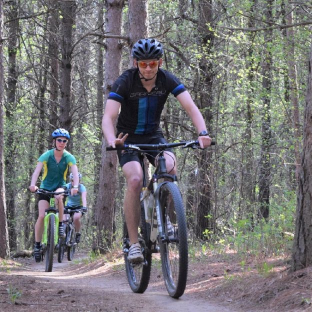 A great day to be on a mountain bike trail in one of Minnesota's piney forests having fun!