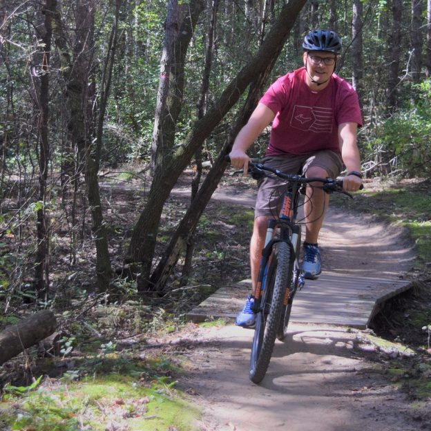 What better way to start your week than a Monday morning mountain bike ride in the woods.