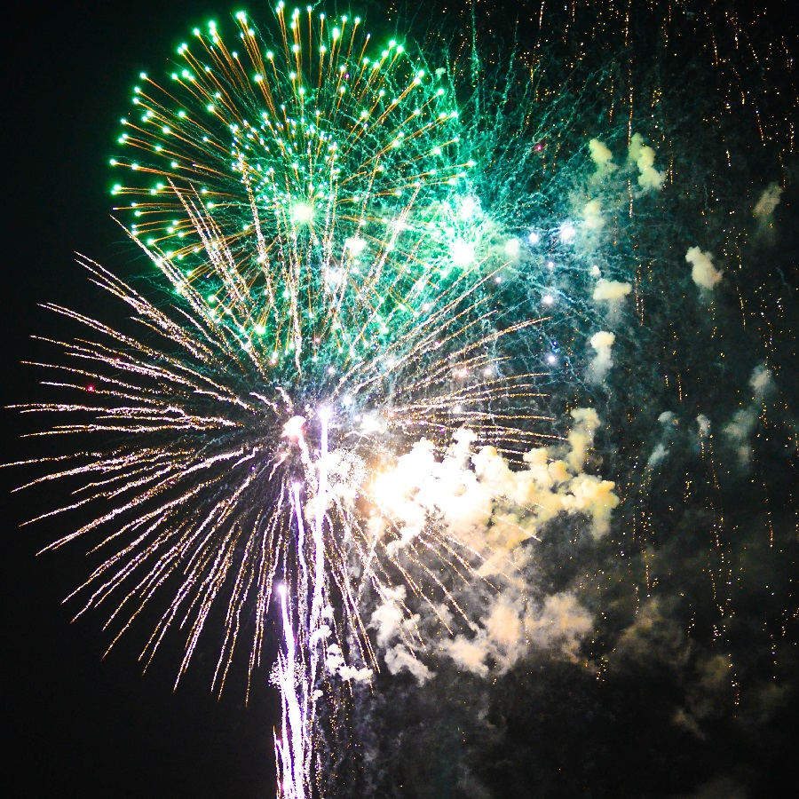 Some of the spectacular fireworks at the Coon Rapids 4 of July Celebration.