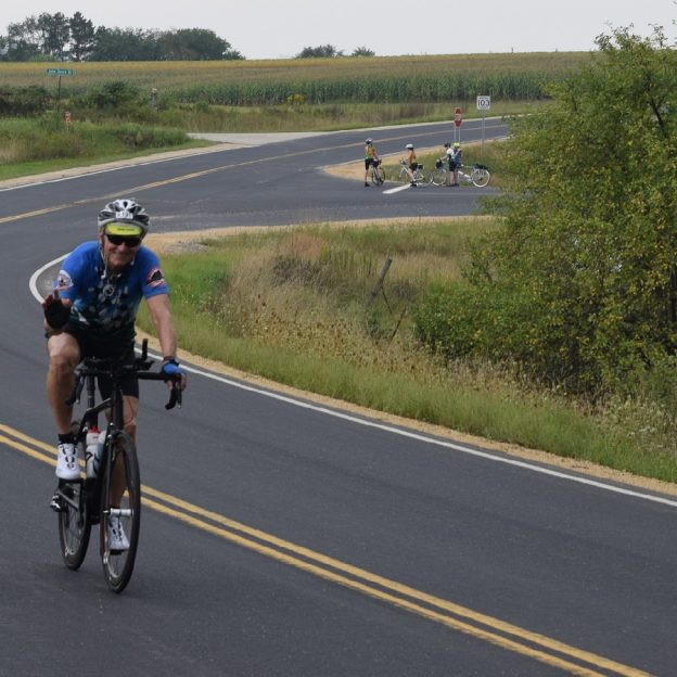 Here we caught a number of touring cyclists enjoying some of routes in Minnesota's Bluff Country, that will be a part of the LaCrosse Bicycle Festival, September 1 - 4.