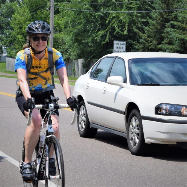 Allowing motorists the option to pass bicyclists in a no passing zone makes the Share the Road campaign, 'Allow 3 Feet When Passing,' safer.